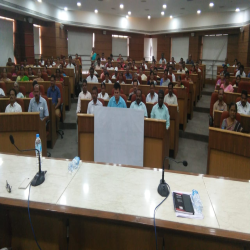 09-04-2019 : Vipasaana intro and Anapana session conducted  At zp office camp