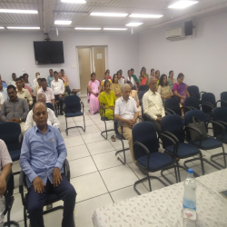 12-04-2019 : Introduction to Vipasaana and Anapana session is conducted  National Informatics Center (NIC), Pune. Approximately, 50 technical staff have attended the session.