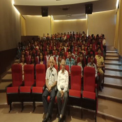05-03-2019 Vipassana intro & Anapana training session at CEOP today where about 130 students participated