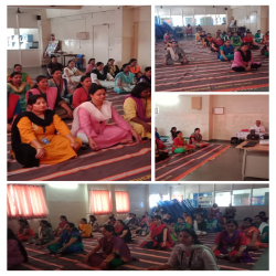 08-03-2019 Mitra orietation training was conducted for about 70 teachers in two batches at silver crest high school today