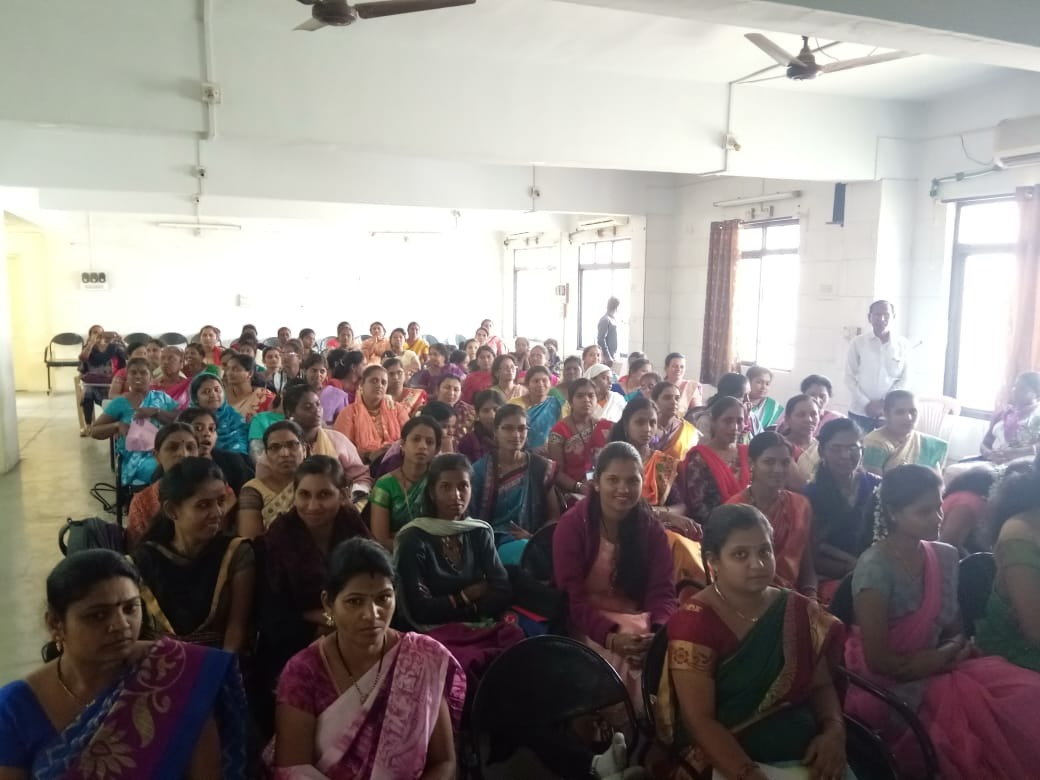 2/1/2019 Haveli taluka Pune- about 100 Asha staff attended.